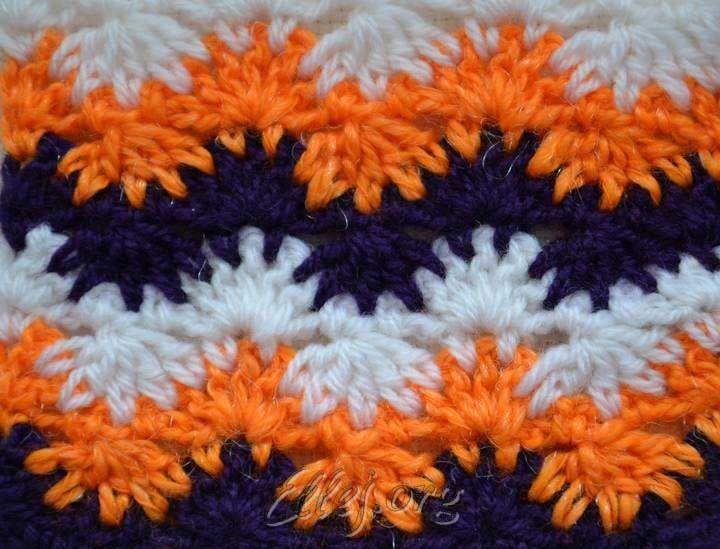 Узор Коралловый риф, crochet ripple variation, not in english, diagram and tutorial pictures.