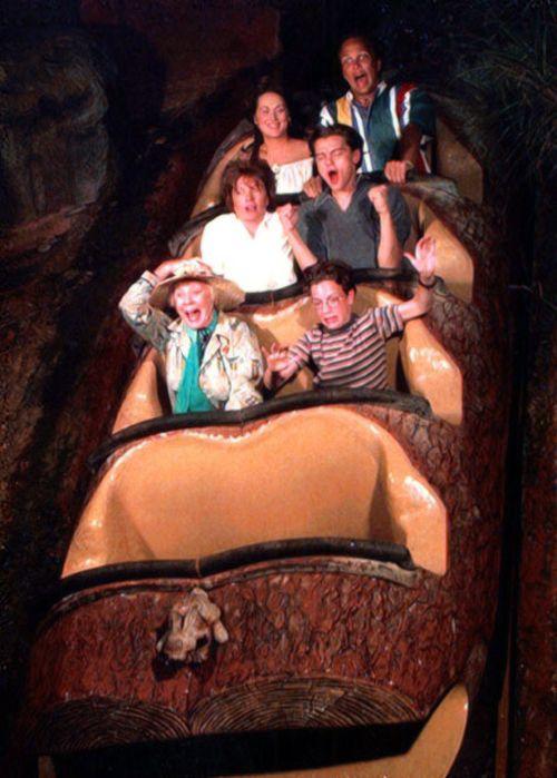 Leo Dicaprio, Meryl Streep & Diane Keaton in an Amusement Park