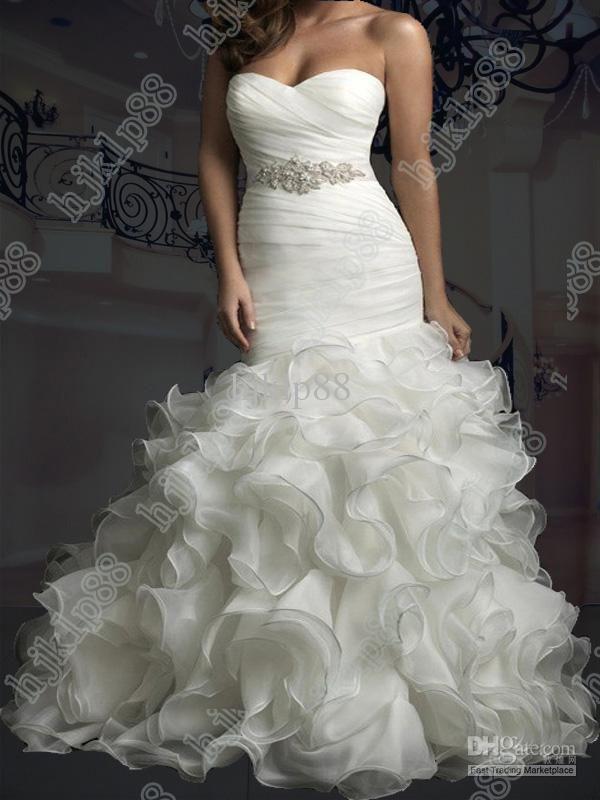 Cheap Wedding Dress Discount Strapless Beautifully