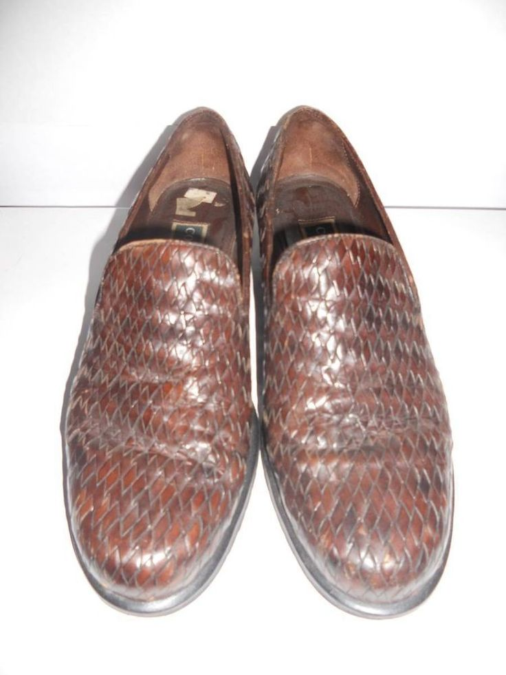 Cole Haan Women's Brown Full Weave Slip On Loafers Oxfords Comfort Shoes 8 B #ColeHaan #LoafersMoccasins