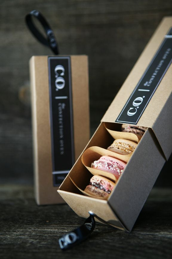 The Confection Oven, boutique San Diego bakery, French macarons packaging