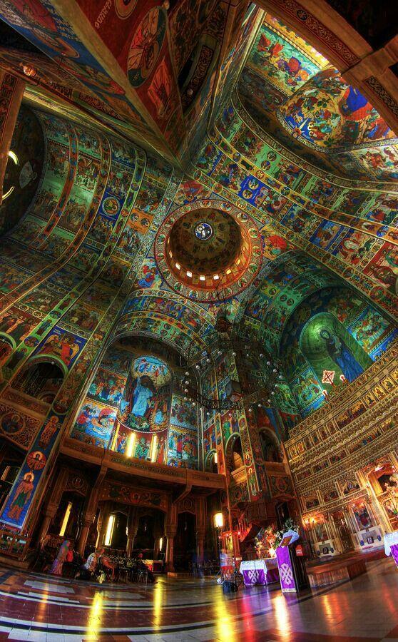 Interior, Catedral Ortodoxa, Rumania.