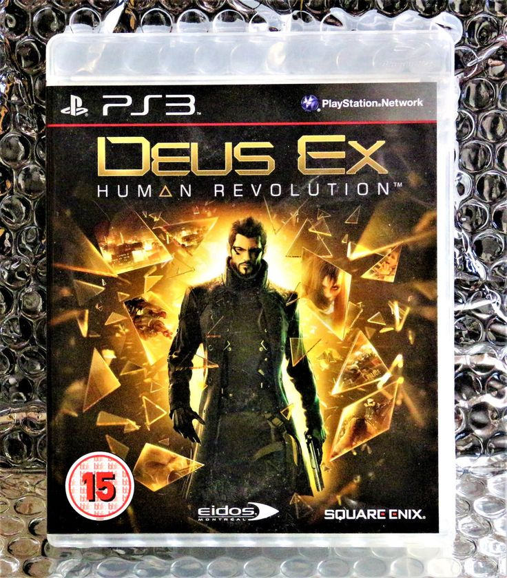PS3 GAME DEUS EX HUMAN REVOLUTION WITH MANUAL PAL VIDEO GAMES MINT DISC