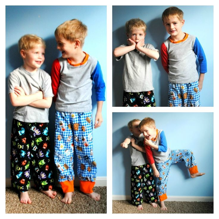 Free Boys Flannel Pajama Pants Pattern