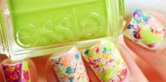 Splatters Nail Art, diseño de uñas salpicadas