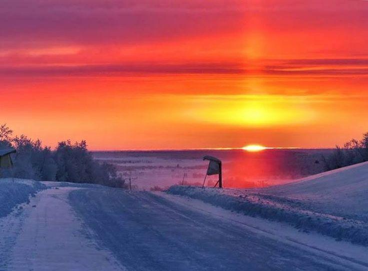 Utsjoki, end of polar night 16.1.2014 12:12 photo by Jorma Hagelin