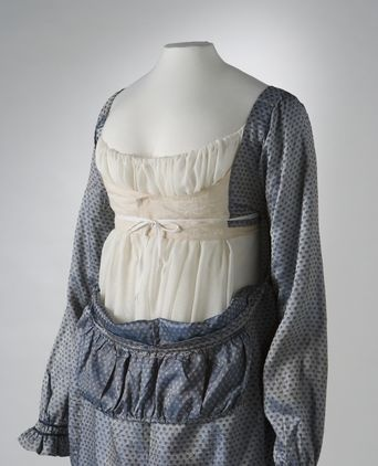 1810-1813 Bodice Interior (Showing Construction), Australian/English Dress. Powerhouse Museum, Australia, 2005.0005.0141.