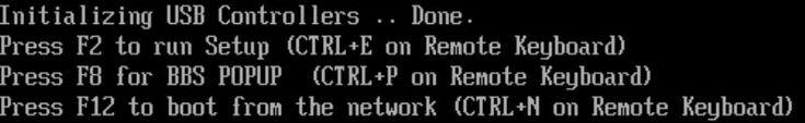 Pulse F8 cuando aparezca el indicador Press F8 for BBS POPUP (Pulse F8 para BBS POPUP) en la pantalla BIOS POST (POST del BIOS) (véase   El menú BBS POPUP le permite seleccionar un dispositivo de inicio.