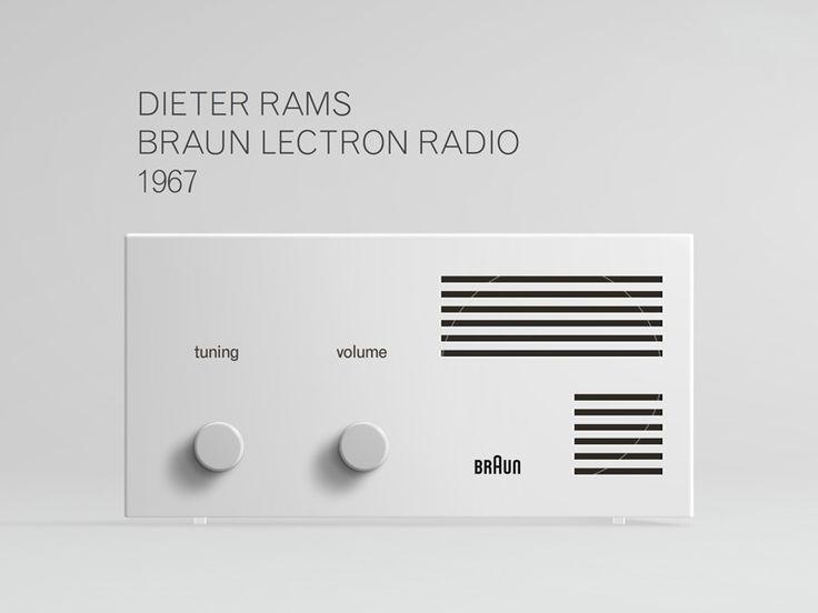 Dieter Rams Braun Lectron Radio 1967