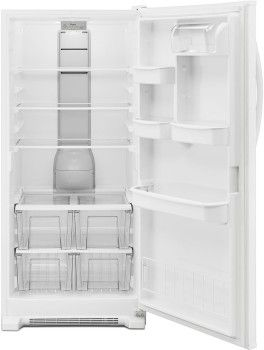 Whirlpool WRR56X18FW 31 Inch Refrigerator with 18 cu. ft. Capacity, 3 Adjustable Shelves, 4 Crispers, 3 Door Bins, Dairy Center, Gallon Door Storage, LED Interior Lighting and Energy Star Rated