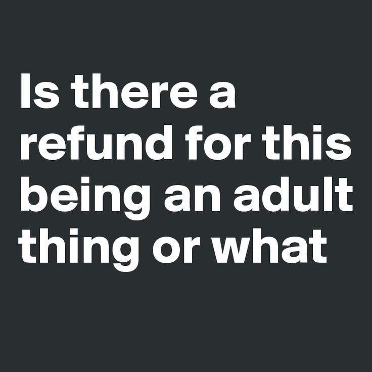#adultlife