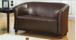 Leather 2 Seater Brown Leather Club Chair (matches Seattle tub chair)