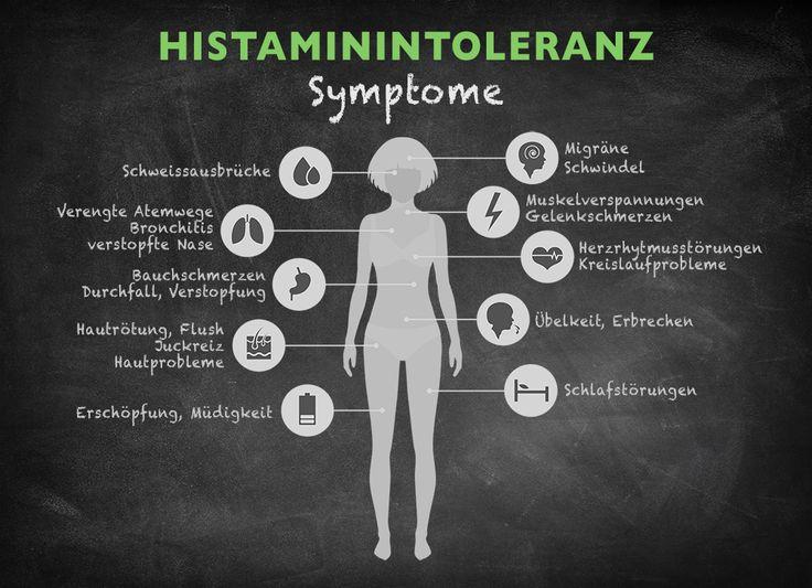 Wie äußern sich die Symptome einer Histaminintoleranz? Kopfschmerzen, Schwindel und Hautrötung sind typische Histaminintoleranz Symptome.