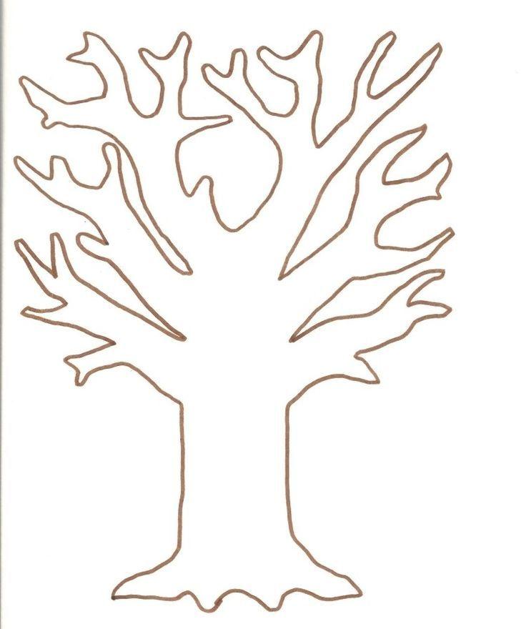 Template For Printing And Coloring Tree Coloring Printing Template Baum Vorlage Herbst Vorschule Fensterbilder Herbst Vorlagen