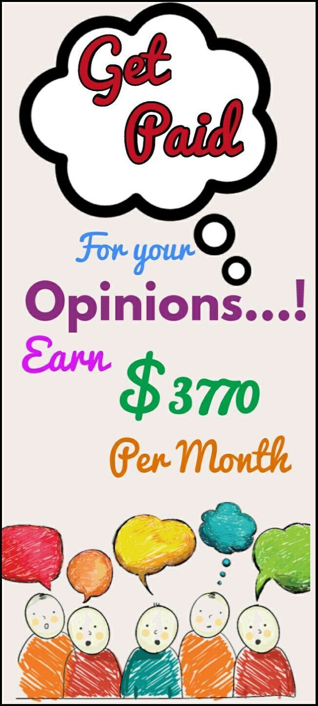 Make money online in 2018. The best way to earn passive income online from home by sharing your opinion. Work from home and earn $3770 per month with genuine methods. Click the pin to see how >>>