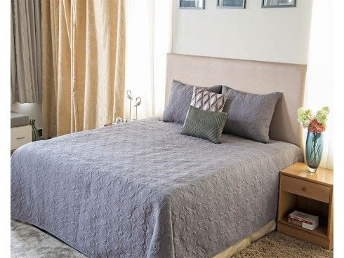 #Quilted #Bedspreads Geometric Design Computer Embroidered Quilted Cotton Bedspread