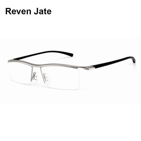 dfff17e0b5d Browline Half Rim Alloy Metal Glasses Frame for Men Eyeglasses Fashion  Coolmodlilj