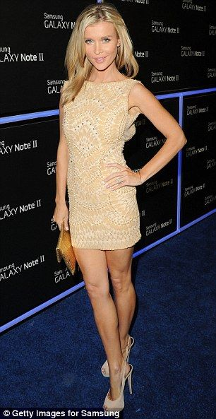 Joanna Krupa + nude dress...uugghhhaaa love the quilted pattern look!