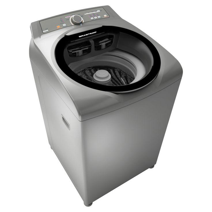 Lavadora de Roupas Brastemp 11 kg Ative! BWG11AR com Sistema Fast - Inox | Extra.com.br