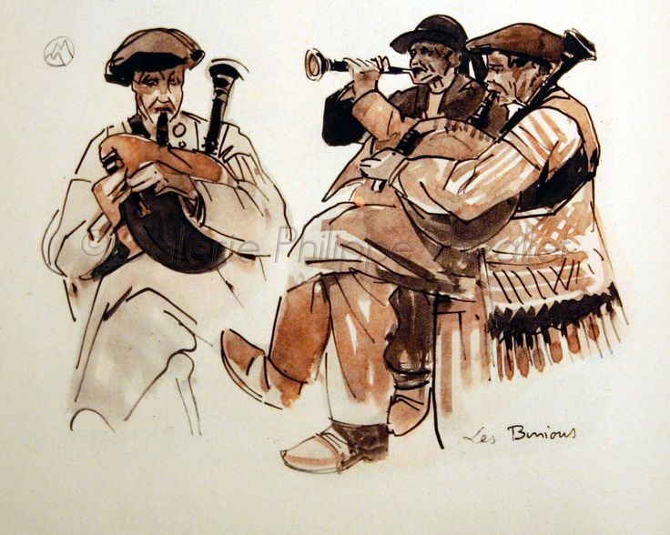 Musique bretonne. Mathurin Meheut