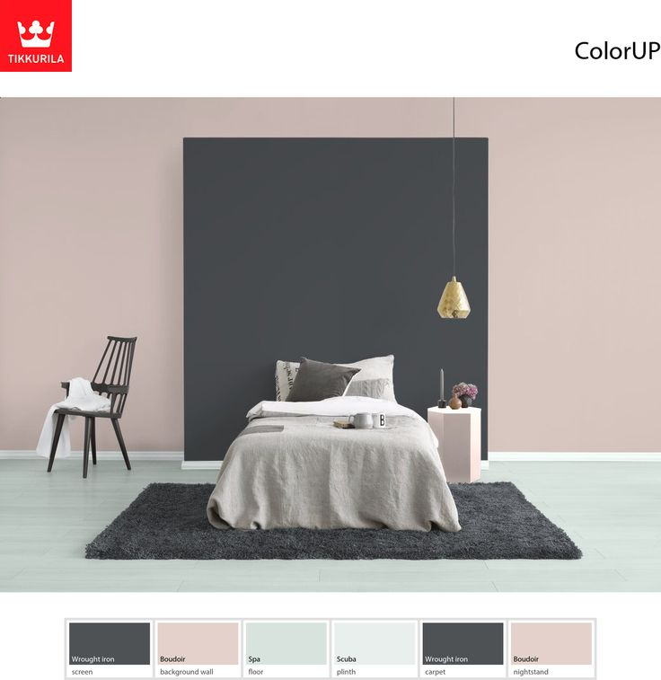 #Tikkurila Boudoir (G447) is a soft pink which will give your bedroom a romantic ambience