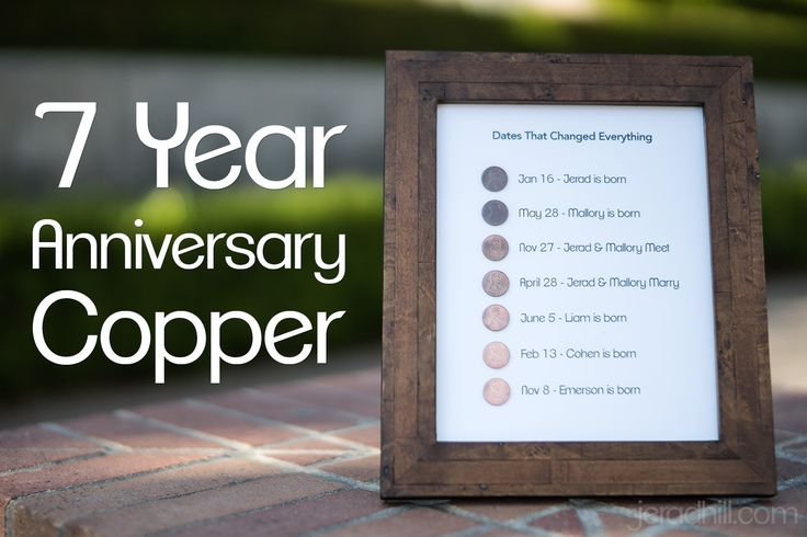 Wedding Gift 7 Year Anniversary : about 7 Year Anniversary on Pinterest Gift for marriage anniversary ...