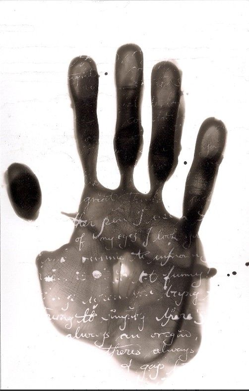 photogram photography black and white hand calligraphy