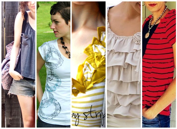Something to do this summer! 10 T-shirt refashioning projects. #sewing #DIY From Babble.