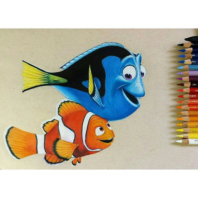 Kelsey Rushing Art | Finding Nemo colored pencil drawing done!...