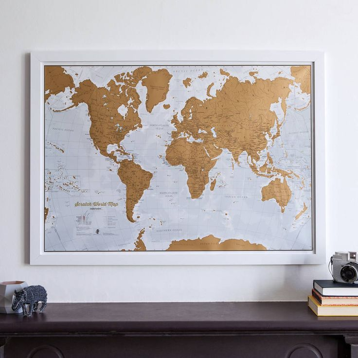 Scratch The World map   Gift Guide: Groomsmen   SouthBound Bride   http://www.southboundbride.com/gift-guide-groomsmen/