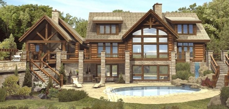 log cabins | ... II - Log Homes, Cabins and Log Home Floor Plans - Wisconsin Log Homes