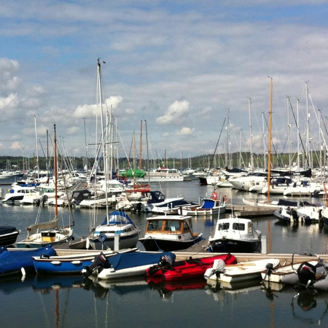 Mylor Harbour, with sun shine!