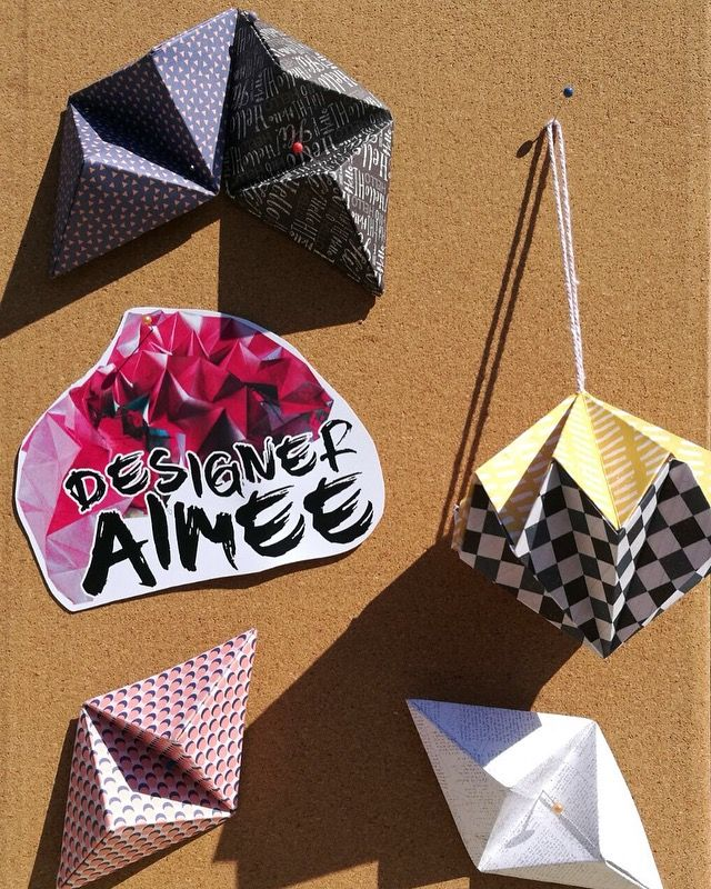 3D sculptures  #designeraimee   #graphicdesign  #art #folding #paperfolding  #origami  #design #artist  #branding  All images are copyrighted © by Aimee Williams.