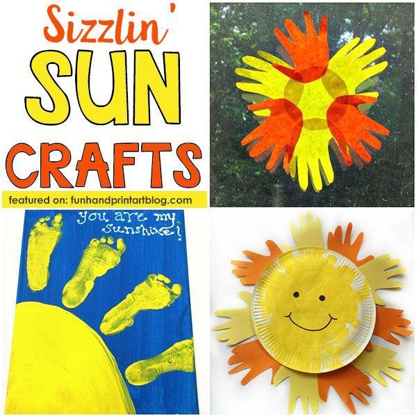 Summer Craft Ideas For Kids Make Handprint Footprint Sun Crafts