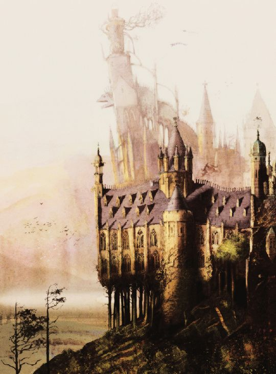 New illustration of Hogwarts from Harry Potter and the Sorcerer's Stone: The Illustrated Edition by Jim Kay (x)