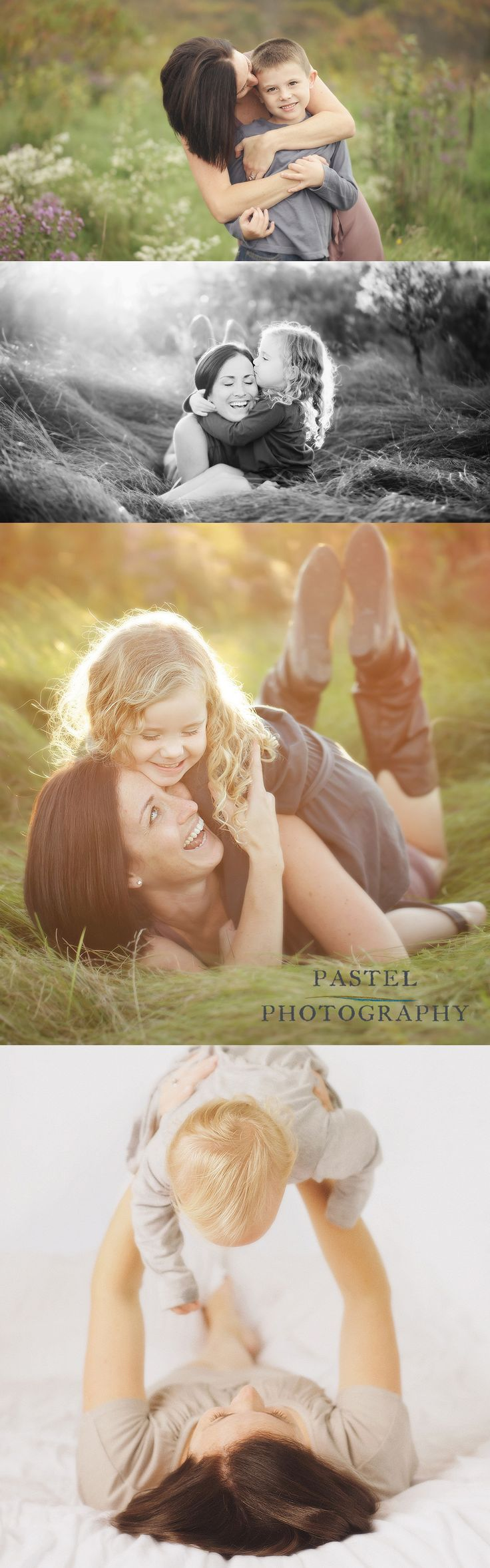 Lovely mother and children portraits.