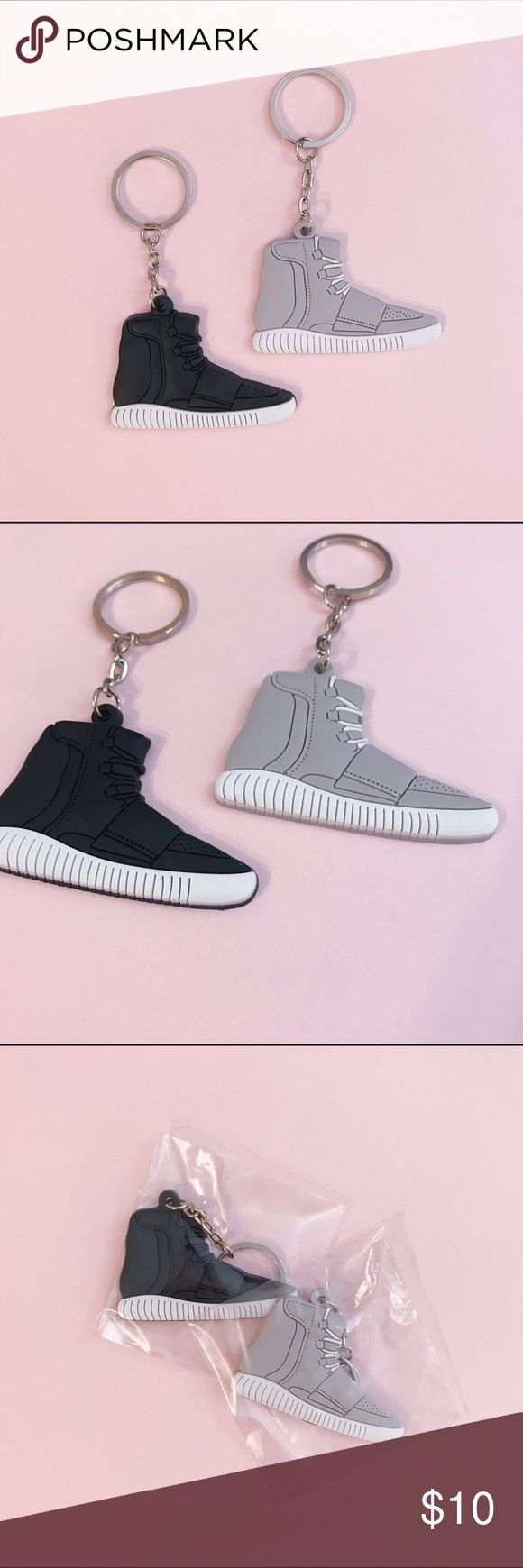 Adidas Yeezy boost 750 keychain Adidas original Yeezy boost 750 keychain 👟 1 for $10 , bundle for a cheaper price! ✨ only one of each color available!!  All brand NEW in package | never used | material: silicone | choose the sneaker color option you want through sizing selection | not brand listed | 💗 check out my closet for more sneaker keychain! 👟  Selection:  - GRAY Adidas Yeezy boost 750 keychain  - BLACK Adidas Yeezy boost 750 keychain Adidas Accessories Key & Card Holders