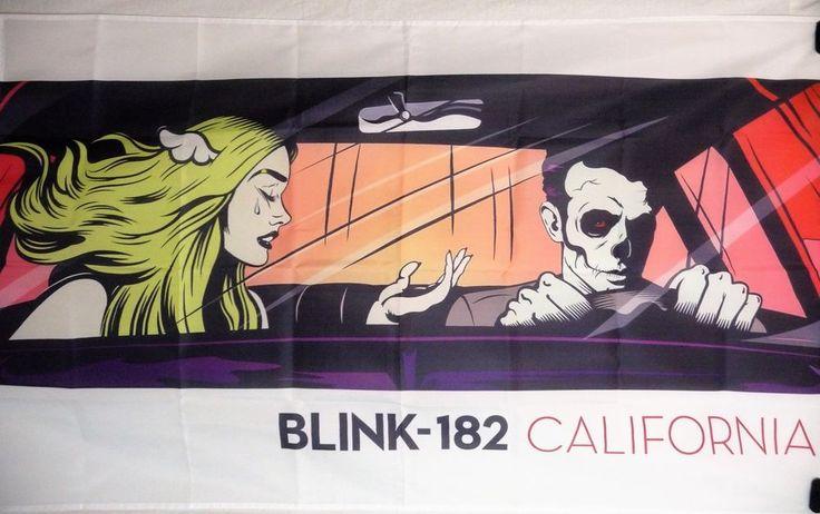 BLINK 182 California HUGE 3X5 banner poster tapestry cd album  | eBay