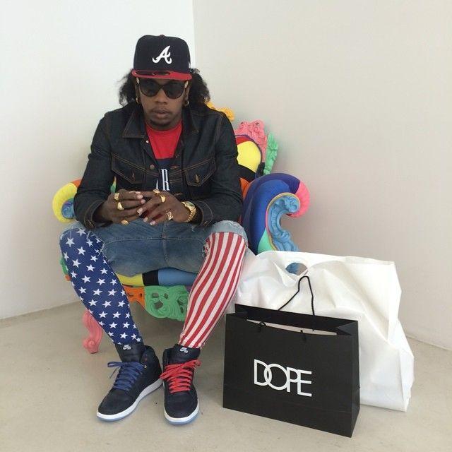 Trinidad James wearing Air Jordan I 1 Family Forever