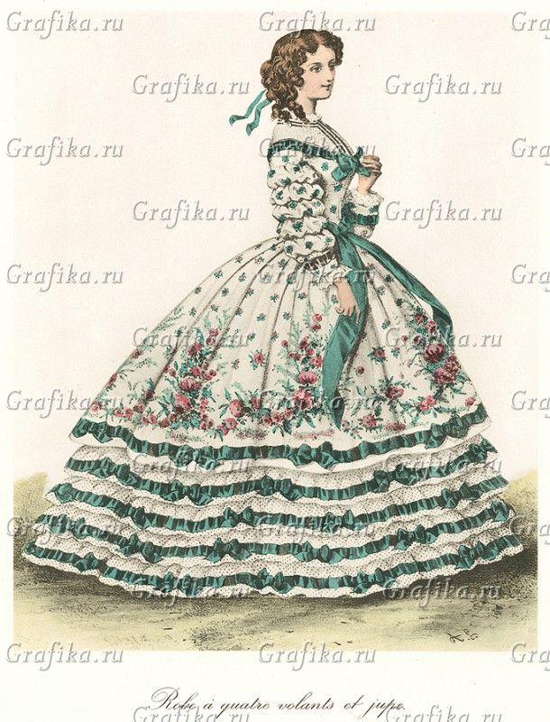 170 best images about crinoline on pinterest day dresses for Miroir des modes prints