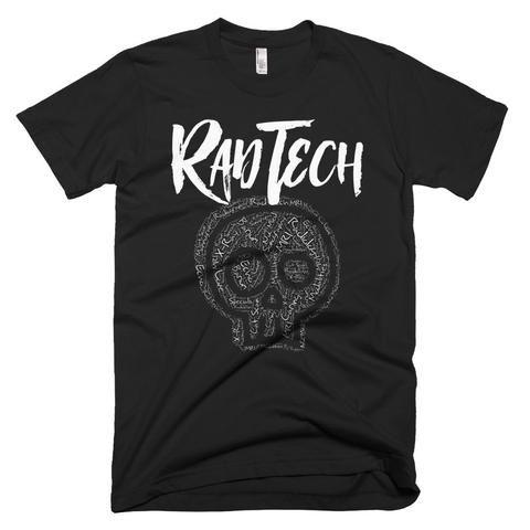 A Radiology Rad Tech Skull X-Ray Words - Rad Tech T-Shirts