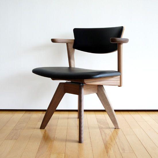 腰の椅子 AWAZA-LDタイプ 回転ダイニングチェア ウォールナット ...