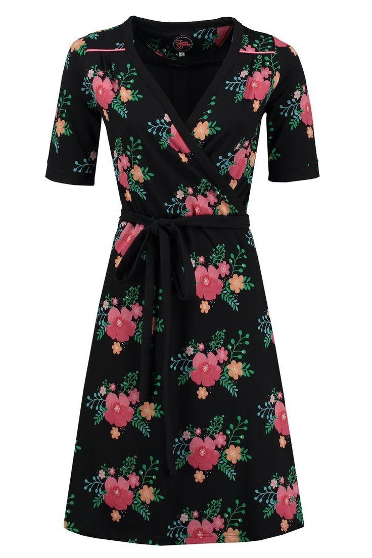 Dress Penny Poppy Black -Tante Betsy.com