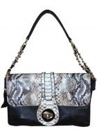 Coco Marelle -- Small Snake Skin Pattern Leather Satchel/Crossbody