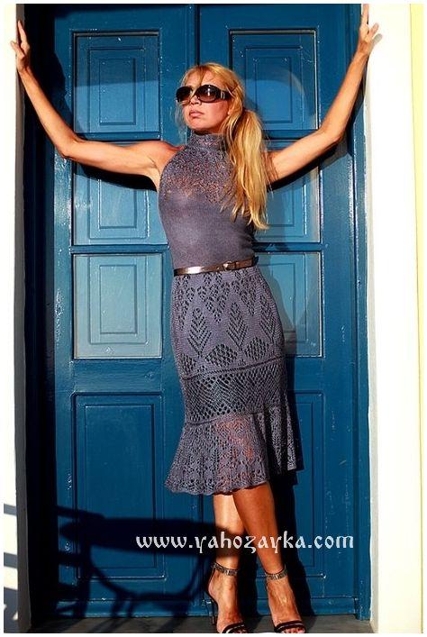 Кружевное платье спицами шотландскими узорами. Ажурное платье спицами по шетландским мотивам | Я Хозяйка