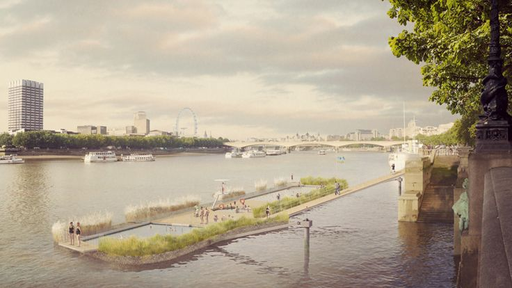 Floating freshwater pools for the River Thames.
