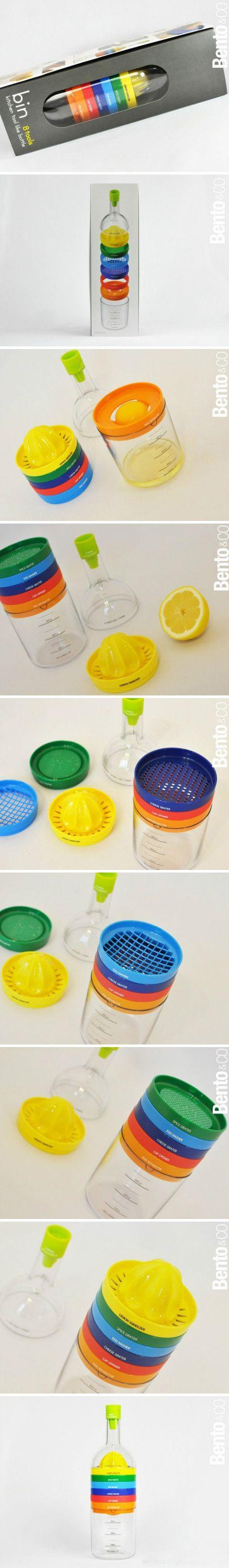 8-in-one kitchen set: egg yolk egg white separator, juicer, funnel and more