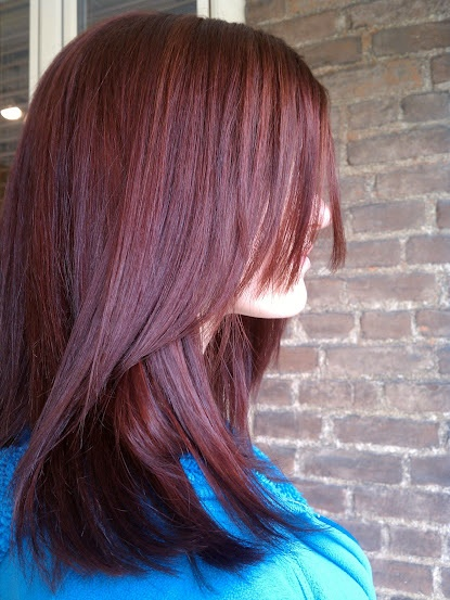 Red Single Process Color, Highlights, & Haircut  ~ By Loren Ball ~ Hairstylist ~ http://lorenball.com/ ~Central Ohio