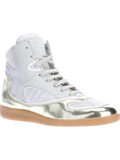 MAISON MARTIN MARGIELA Panelled Hi-Top Sneaker