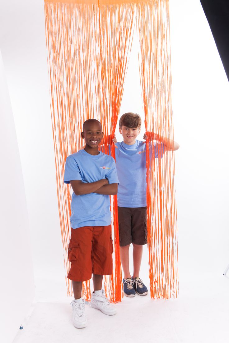 Now this is an EZ decorating tip! Use an orange plastic G-Force Decorating Curtain to  create motion and fun to any area for VBS! Available at Cokesbury! www.cokesburyvbs.com